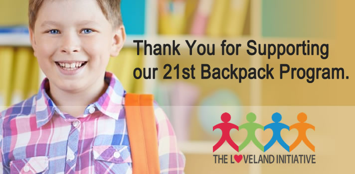 Backpack Program - The Loveland Initiative